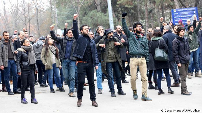 Türkei Protest an der Uni Ankara