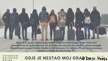 Kroatien Osijek - Expoante auf der Ausstellung Wo ist mein Stadt gegangen?