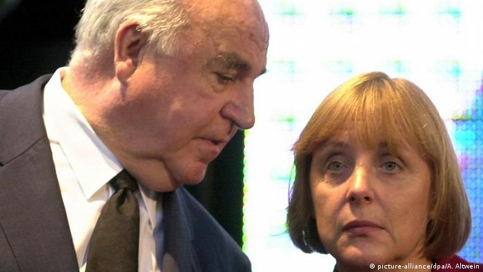 Helmut Kohl and Angela Merkel