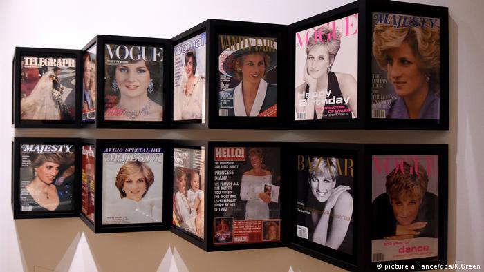 Magazincover mit Prinzessin Diana auf dem Titelbild - Exponate aus der Ausstellung Diana Her Fashion Story in London (picture alliance/dpa/K.Green)
