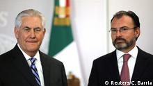 US' top diplomat Rex Tillerson and his Mexican counterpart