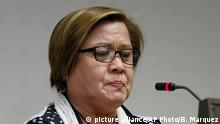 Leila de Lima (picture alliance/AP Photo/B. Marquez)