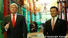 Mexico City Wachsfiguren Donald Trump (L) and Mexico's Präsident Enrique Pena Nieto