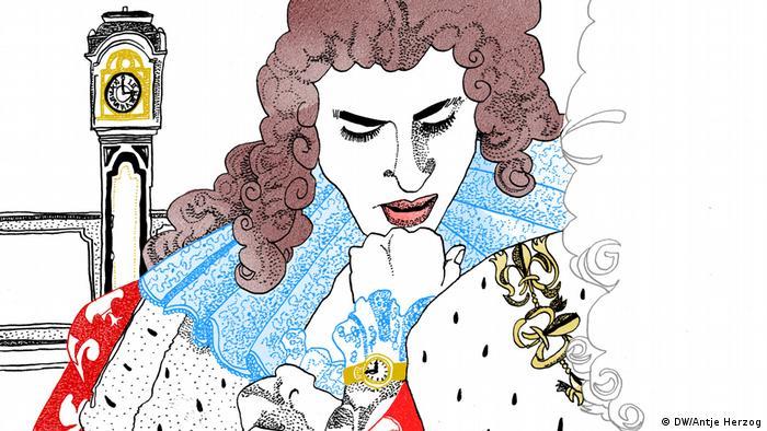 DW Illustration zum Sprichwort: Pünktlichkeit ist die Höflichkeit der Könige (DW/Antje Herzog)