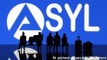 Symbolbild zur Integration von Asylanten im deutschen Arbeitsmarkt Emblem...