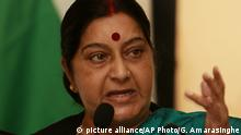 Indien Sushma Swaraj (picture alliance/AP Photo/G. Amarasinghe)