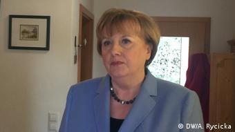 Ursula Wanecki alias Angela Merkel. Foto: DW/A. Rycicka