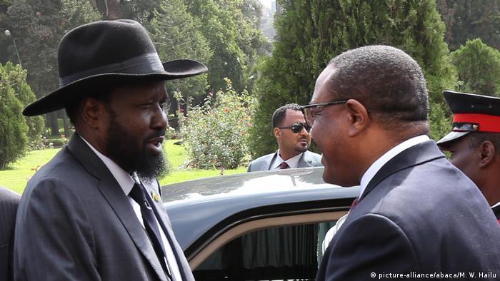 Äthiopien Addis Abeba Salva Kiir Mayardit und Hailemariam Desalegn