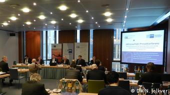 На пресс-конференции в Берлине представили результаты опроса немецких фирм, работающих в России