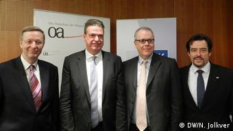 Михаэль Хармс (управляющий делами Восточного комитета), Маттиас Шепп, Клаус Шефер и Фолькер Трайер (слева направо)