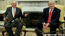 24.02.2017 U.S. President Donald Trump meets with Peru's President Pedro Pablo Kuczynski at the White House in Washington, U.S., February 24, 2017. REUTERS/Yuri Gripas
