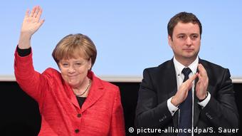 Stralsund Angela Merkel auf CDU-Landesvertreterversammlung (picture-alliance/dpa/S. Sauer)