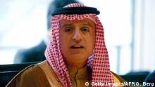 February 17, 2017*** Saudi Arabia's Foreign Minister Adel bin Ahmed Al-Jubeir attends a meeting on Syria at the World Conference Center in Bonn, western Germany, February 17, 2017. / AFP / POOL / Oliver Berg (Photo credit should read OLIVER BERG/AFP/Getty Images)