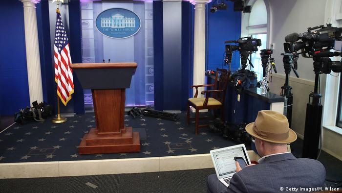 USA Washington Journalisten im Weißen Haus