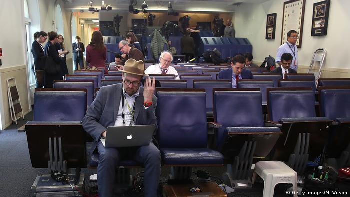 USA Washington Journalisten im Weißen Haus (Getty Images/M. Wilson)