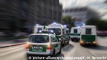 Polizeieinsatz in Berlin (picture-alliance/chromorange/K.-H. Sprembe)