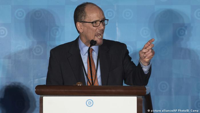 US-Demokraten wählen neunen Parteivorsitzenden Tom Perez (picture alliance/AP Photo/B. Camp)
