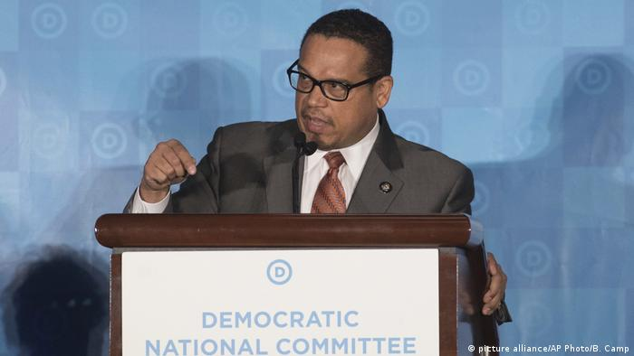 US-Demokraten wählen neunen Parteivorsitzenden Keith Ellison (picture alliance/AP Photo/B. Camp)