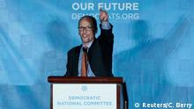 25.02.2017 +++ Tom Perez addresses the audience after being elected Democratic National Chair during the Democratic National Committee winter meeting in Atlanta, Georgia. February 25, 2017. REUTERS/Chris Berry