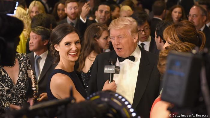 Washington Donald Trump beim traditionellen Korrespondenten-Galadinner im Weißen Haus (Getty Images/L. Busacca)