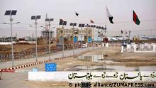 February 24, 2017 - Pakistan - CHAMAN, PAKISTAN, FEB 24: A view of the Friendship gate at Pak-Afghan border Chaman .on Friday, February 24, 2017. Chaman border is closed from last 7 days and security is high .alert |
