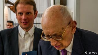 Marcin Barcz und Władysław Bartoszewski (privat)