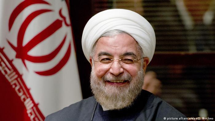 Irans Präsident Hassan Rohani (picture alliance/dpa/D. Bockwo)