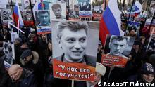 Russland Gedächtnisaktionen zu ermordeten Oppositionnelen Boris Nemtsov