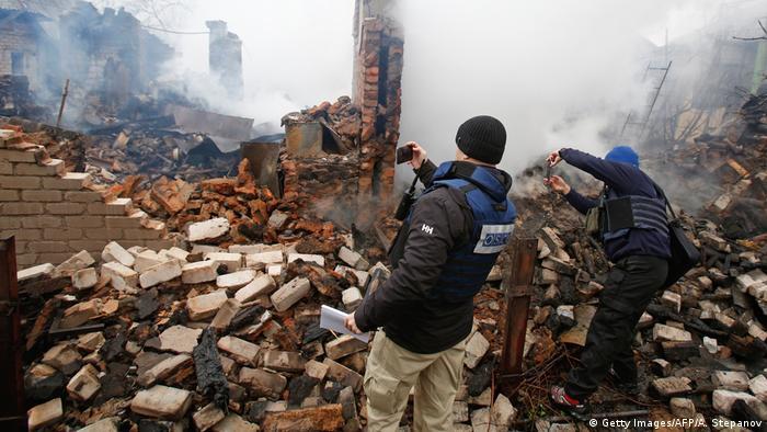 Ukraine Zerstörung in Avdiivka   OSCE