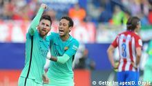 Spanien Atletico de Madrid gegen FC Barcelona | Lionel MessiClub Atletico de Madrid v FC Barcelona - La Liga