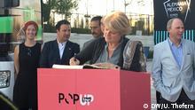 Monika Grütters in Puebla, Mexiko, am 26. Februar 2017 Monika Grütters, Staatsministerin für Kultur und Medien, ist in Mexiko wegen Duales Jahr Mexiko - Deutschland.