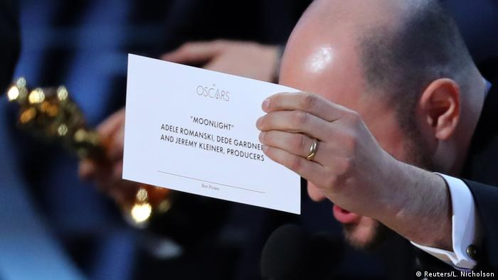 Best picture envelope at 2017 Academy Awards (Reuters/L. Nicholson)