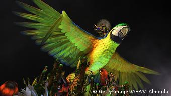 Brasilien Karnevalsumzug Rio Sambaschule Imperatriz