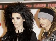 El cantante Bill Kaulitz y el guitarrista Tom Kaulitz, miembros de Tokio Hotel.