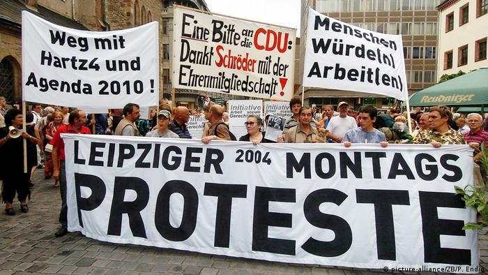 Deutschland - Montagsdemonstration in Leipzig
