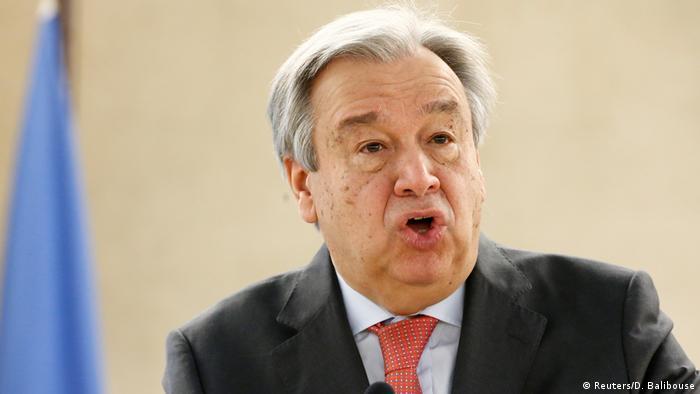 Schweiz Genf Antonio Guterres (Reuters/D. Balibouse)
