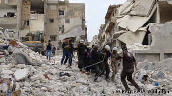 Syrien Luftangriffe auf die Stadt Ariha