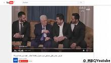 Screenshot Youtube MBC Abbas mit Arab Idol Finalisten