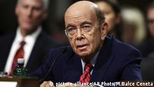 FILE - In this Jan. 18, 2017, file photo, Commerce Secretary nominee Wilbur Ross testifies on Capitol Hill in Washington, at his confirmation hearing before the Senate Commerce Committee. Ross was confirmed as Commerce Secretary on Feb. 27. (AP Photo/Manuel Balce Ceneta, File)  