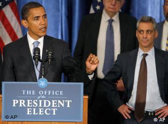 Obama am Rednerpult (AP Photo/Charles Dharapak)