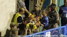Brasilien Karneval in Rio Unfall im Sambadrom Gruppe Unidos da Tijuca