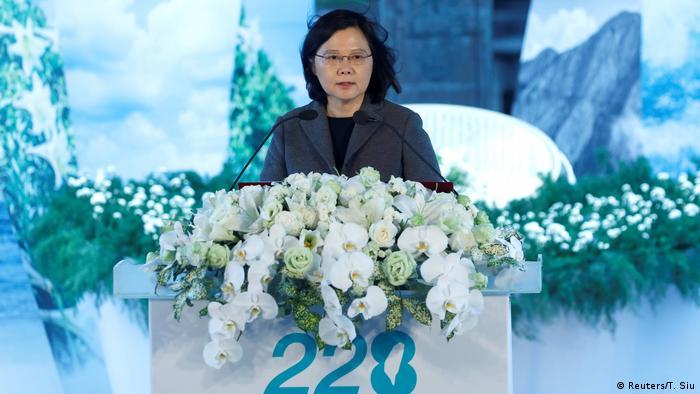 Taiwan Präsidentin Tsai Ing-wen bei der Ansprache zum 70. Jahrestag des 228-Zwischenfalls (Foto: Reuters/T. Siu)