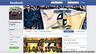 Screenshot Facebook Freundeskreis Thüringen/Niedersachsen