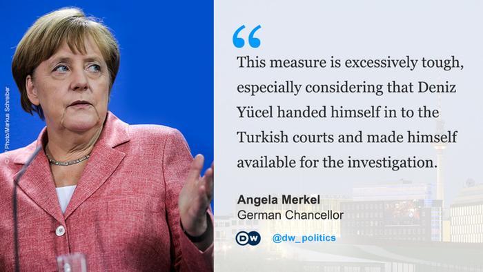 Deutschland Türkei Yücel Kritik Angela Merkel