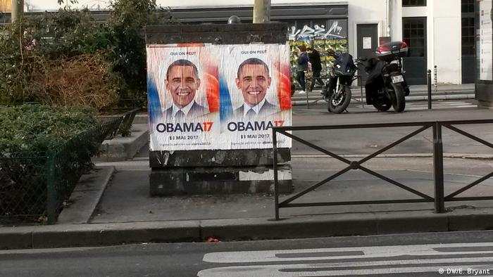 Obama2017 posters on the streets of Paris