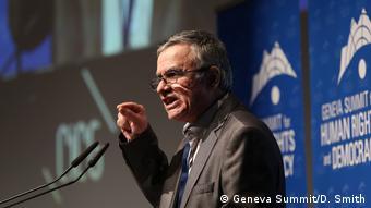 Taghi Rahmani beim Geneva Summit
