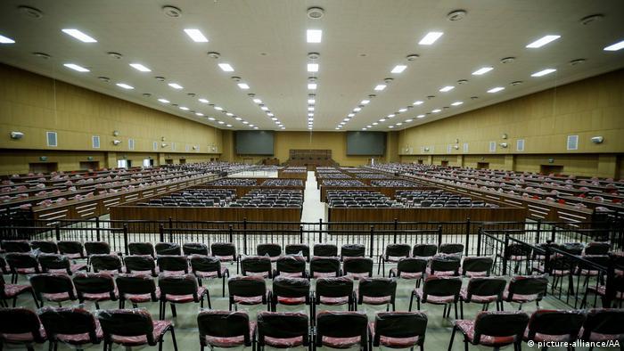 Türkei Gerichtssaal für den Prozess gegen 330 Putschisten (picture-alliance/AA)