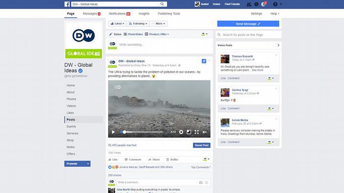 DW Global Ideas Screenshot Facebook