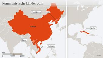 A map of communist countries in 2017 (c) DW