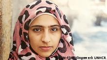 Auf dem Bild ist Doaa beim Sprachunterricht in Schweden zu sehen. Copyright: UN-Flüchtlingswerk UNHCR
